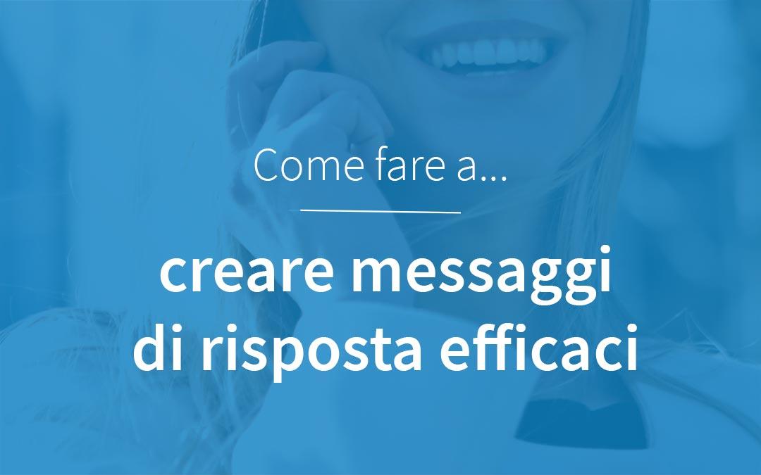 Migliori messaggi risposta automatica centralino